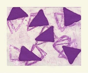 Lavender Print, Katherine Bradford. 1993
