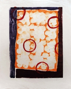 Untitled Monotype #9, Katherine Bradford. 1993
