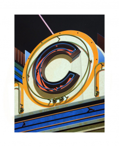 An American Alphabet: C, Robert Cottingham. 2010