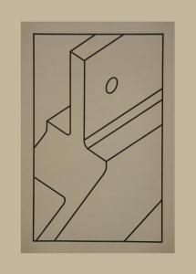 Component V (black line), Robert Cottingham. 2010