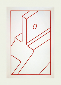 Component V (red line), Robert Cottingham. 2010