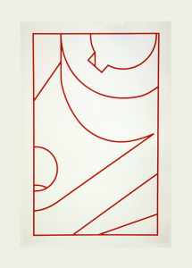 Component XX (red line), Robert Cottingham. 2010