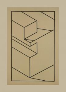 Component X (black line), Robert Cottingham. 2010