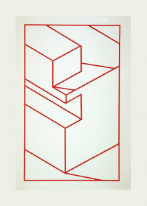 Component X (red line), Robert Cottingham. 2010
