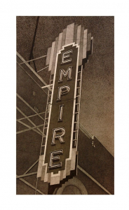 Empire (vertical), Robert Cottingham. 2012