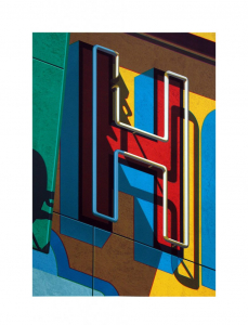 An American Alphabet: H, Robert Cottingham. 2010