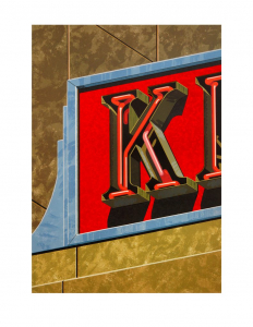 An American Alphabet: K, Robert Cottingham. 1997