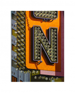 An American Alphabet: N, Robert Cottingham. 2012