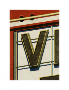 An American Alphabet: V, Robert Cottingham. 2004
