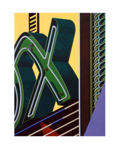 An American Alphabet: X, Robert Cottingham. 2009