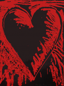 The Black and Red Heart, Jim Dine. 2013
