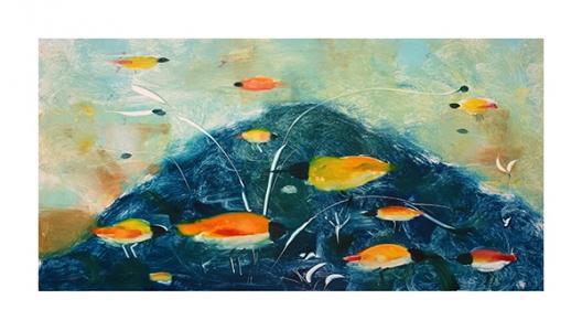 Amber Birds and Indigo Mountain, Valentina DuBasky. 2014