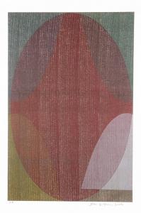 Lilly's Print (left), Sam Gilliam. 2001