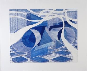 MN Blue, Al Held. 2003
