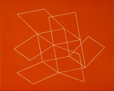 Flying Open Cube (orange), Patrick Ireland. 1993