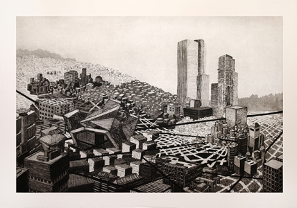 Untitled (cityscape), Nicola López. 2013