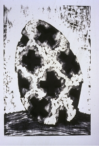 Charred Cross Egg, David Nash. 1995