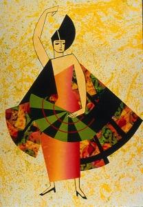 Exter's Dancer, Miriam Schapiro. 1995