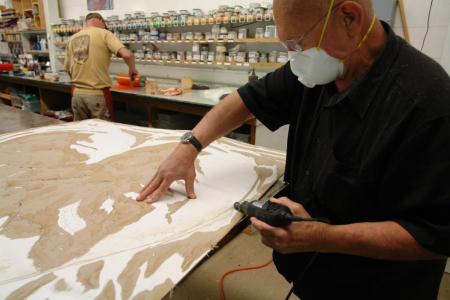 Photo of Jim Dine in the Studio