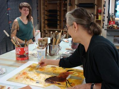 Photo of Valentina DuBasky in the Studio