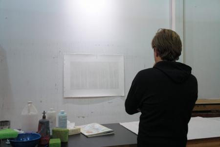 Photo of Cameron Martin in the studio