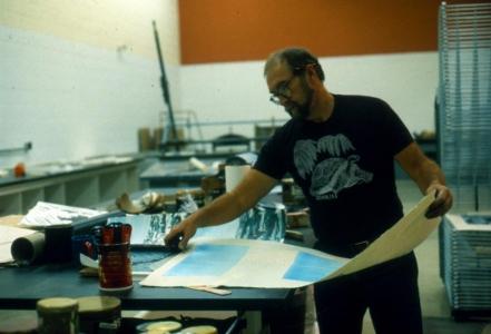 William Weege in the Studio