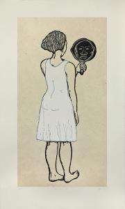Mirror, Mirror; Mulatta Seeking Inner Negress II, Alison Saar. 2015