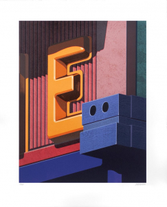An American Alphabet: E, Robert Cottingham. 2008