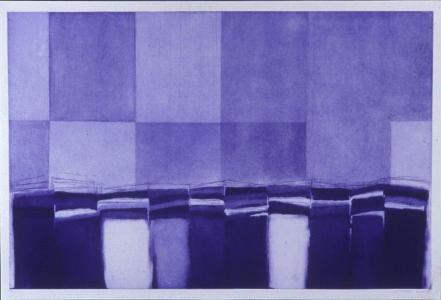 Hudson River Estuary (etching), Suzanne Caporael. 2001
