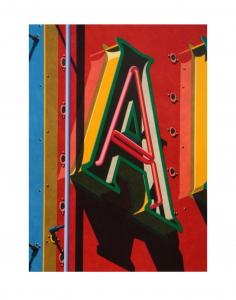 An American Alphabet: A, Robert Cottingham. 2001