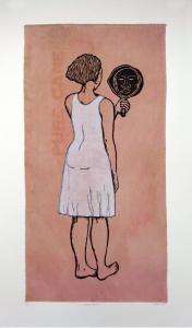 Mirror, Mirror; Mulatta Seeking Inner Negress, e.v. 10/10, Alison Saar. 2014