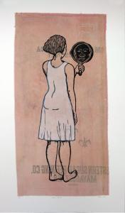Mirror, Mirror; Mulatta Seeking Inner Negress, e.v. 2/10, Alison Saar. 2014