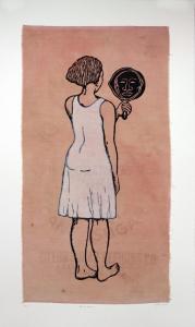 Mirror, Mirror; Mulatta Seeking Inner Negress, e.v. 3/10, Alison Saar. 2014