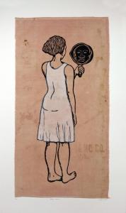 Mirror, Mirror; Mulatta Seeking Inner Negress, e.v. 4/10, Alison Saar. 2014