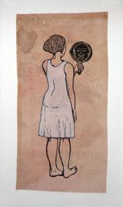 Mirror, Mirror; Mulatta Seeking Inner Negress, e.v. 5/10, Alison Saar. 2014