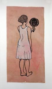 Mirror, Mirror; Mulatta Seeking Inner Negress, e.v. 6/10, Alison Saar. 2014