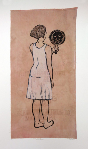 Mirror, Mirror; Mulatta Seeking Inner Negress, e.v. 8/10, Alison Saar. 2014
