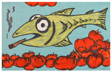 Fish As Spotted Produce Clerk, Bill Rock. 2016