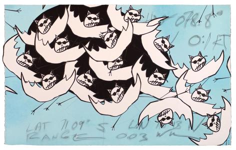 School of Albino Spirit Bats, Bill Rock. 2016