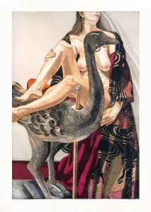 Model and Ostrich, Philip Pearlstein. 1995
