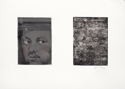 Untitled monoprint, Joseph Goldyne. 1994