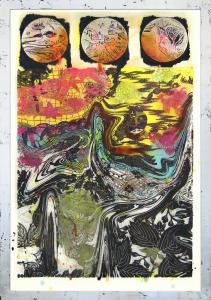The three fishes, Judy Pfaff. 2017