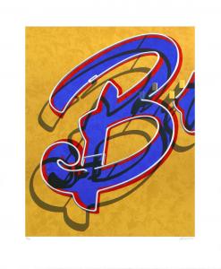 An American Alphabet: B, Robert Cottingham. 2008