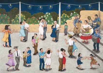 Baile, Carmen Lomas Garza. 2001