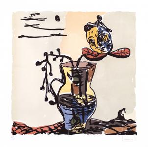 Untitled (Vase & Floating Head), Santiago Moix. 1995