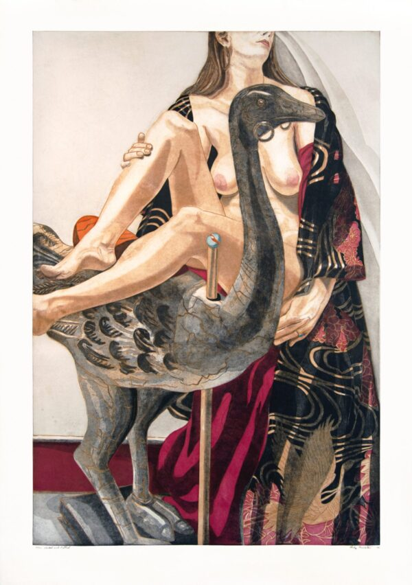 Philip Pearlstein, Model and Ostrich, 1995