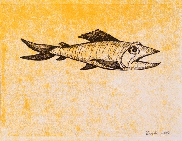 Bill Rock, Mustard Fish, 2016