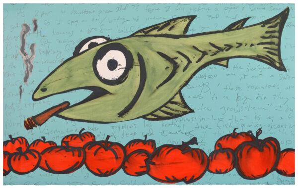 Bill Rock, Original Fish as Produce Clerk, 2016