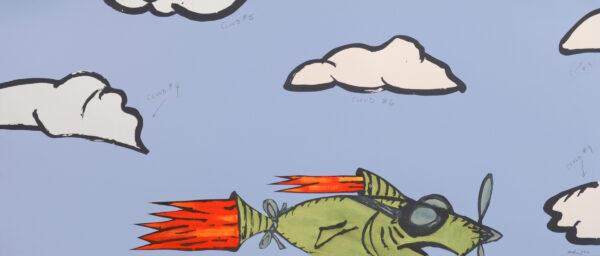 Bill Rock, Rocket Fish: Cloud Counting #2, 2016