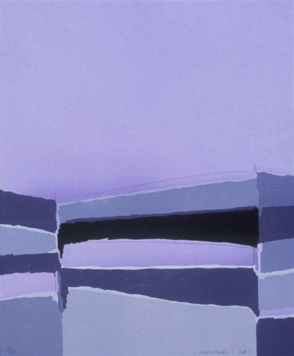 Suzanne Caporael, Hudson River Estuary (blue), 2001